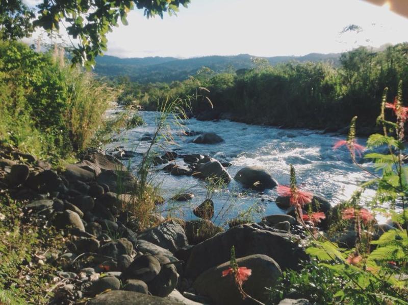 la rivière qui passe à la fin de la proprieté