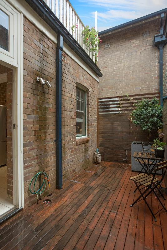 1 of 3 lovely outdoor areas on the property. A second toilet is located off this courtyard