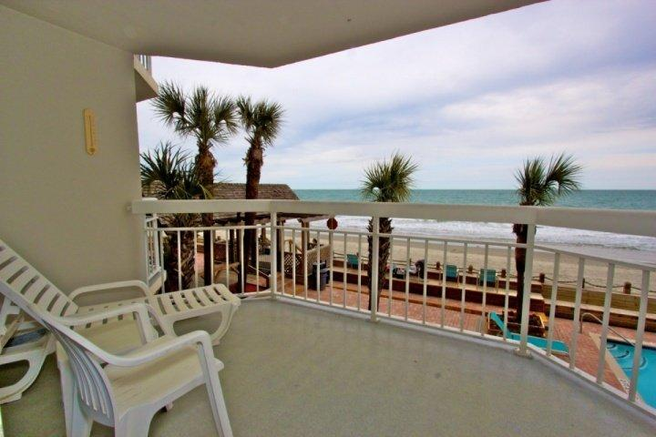 Here's the view you and your family will enjoy, a first floor view of the pool, beach and ocean.