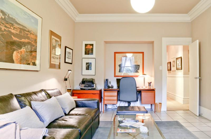 Family Room with Office Opens to Kitchen. Talk, Read, Watch TV, Check email, Watch the Cook.  Relax!