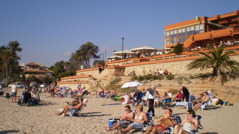 New Years Day on La Zenia beach