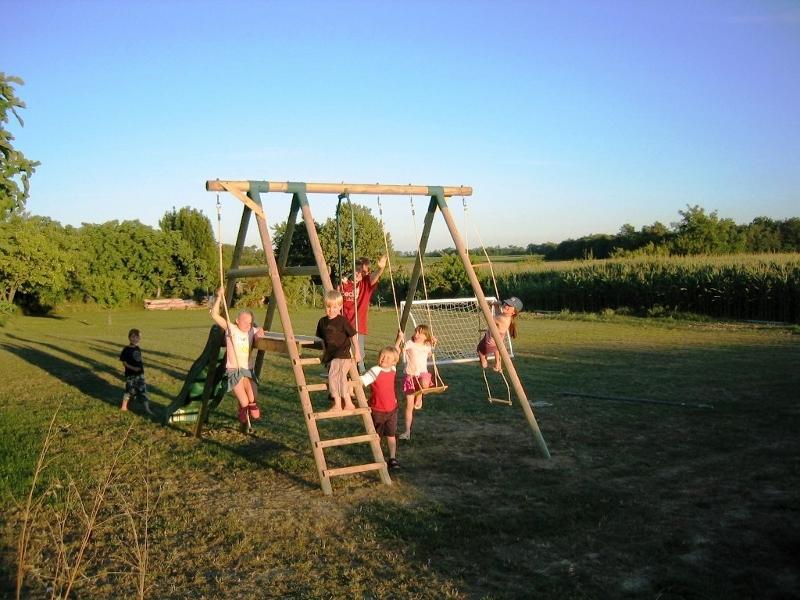Children's swings and slide