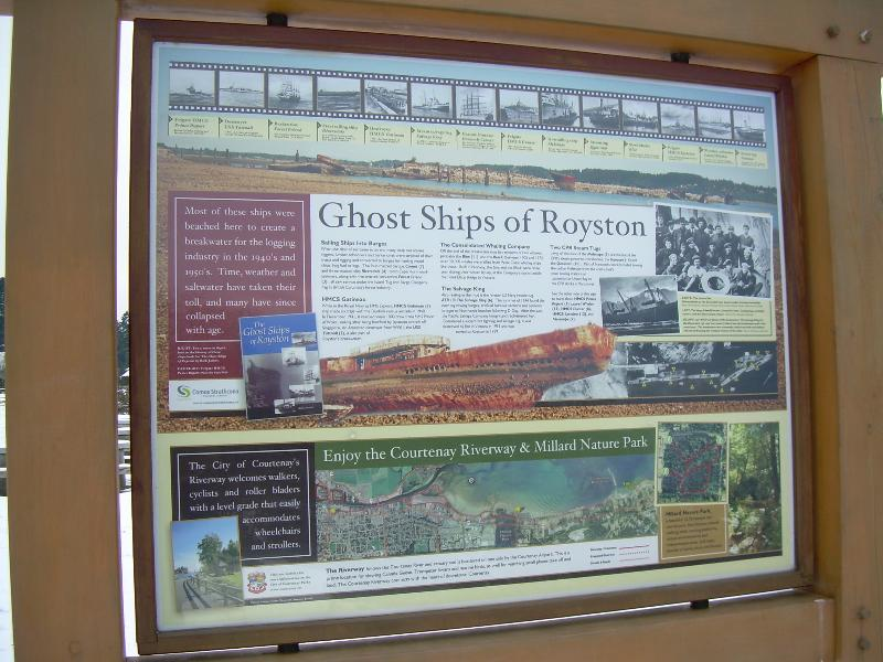 History of the Ghost Ships near the picnic area 1 block from Eaglesview