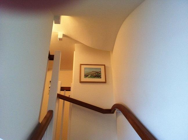 Leading up to the private entrance of the first floor.