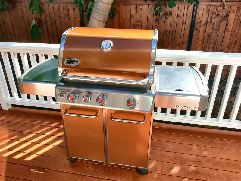 Grill in style with a Weber stainless steel grill!
