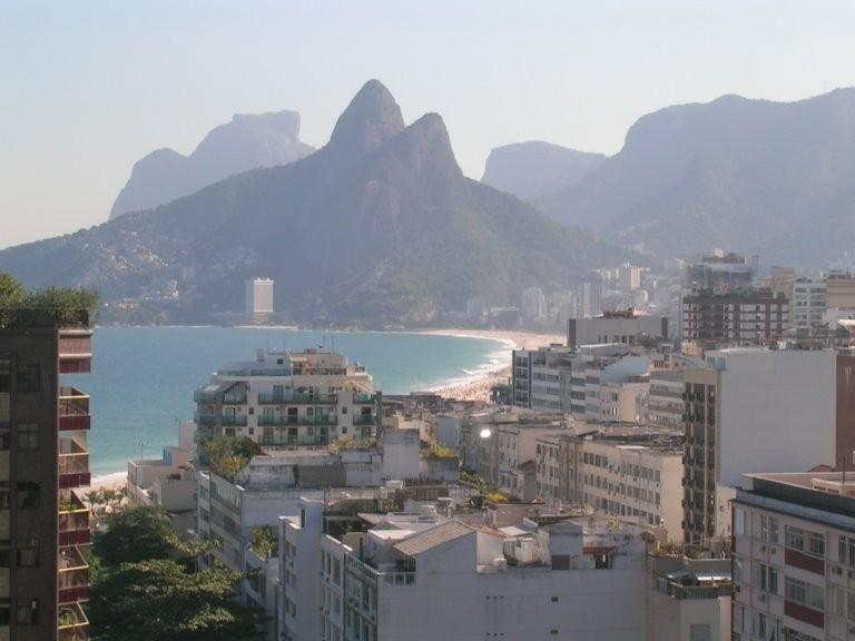 Beautiful view of Ipanema and Leblon from the front balcony