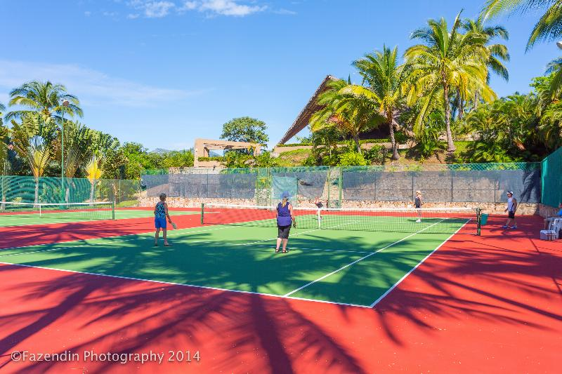 4 clay tennis courts and Club House