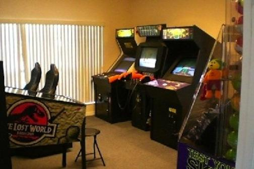 Arcade room in the clubhouse