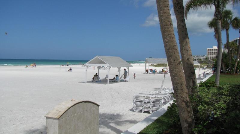 Crescent Beach on Siesta Key from the Casa Blanca complex