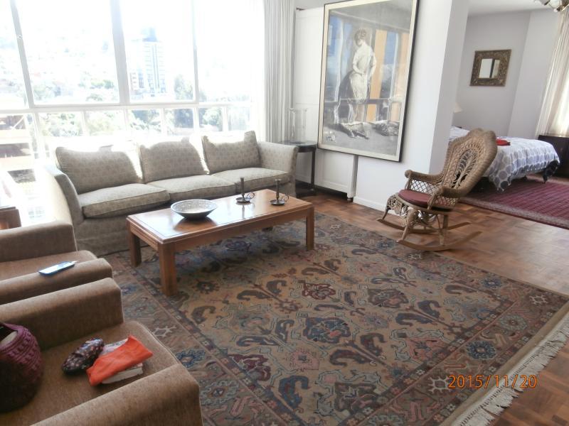 Sala con comodos sillones para descansar y disfrutar de una maravillosa vista