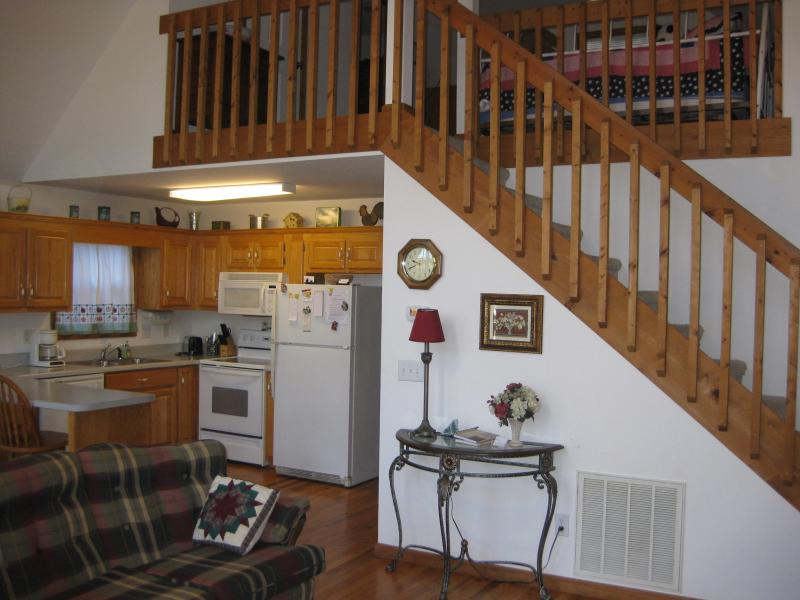 Showing stairs to loft bedroom