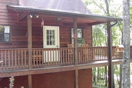 Covered porch with rockers