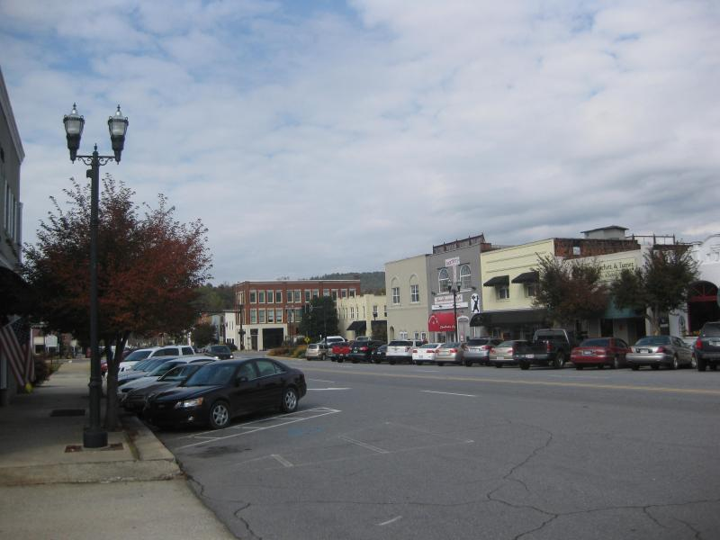 One view of downtown Murphy.  Love it!