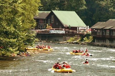 Whitewater rafting is so much fun!  The Nantahala & Ocoee Rivers are nearby.