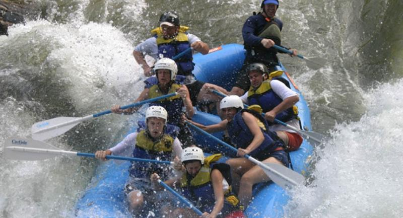 The Ocoee River has bigger rapids.  The Nantahala is milder but still fun!