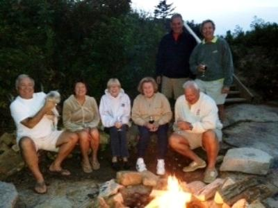 Fire pit in use