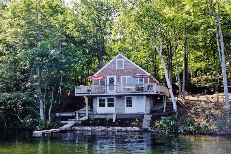 Gorgeous view of the East Wakefield Vacation Rental Cottage from the lake