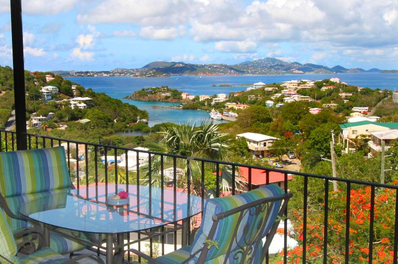 One of many fabulous views from Serendip's private verandas.