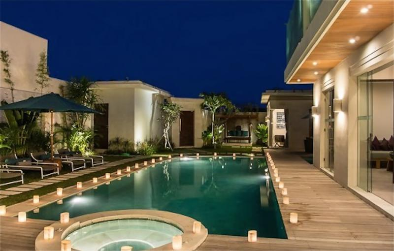 Relax in the jaccuzi spa or swim in this huge pool