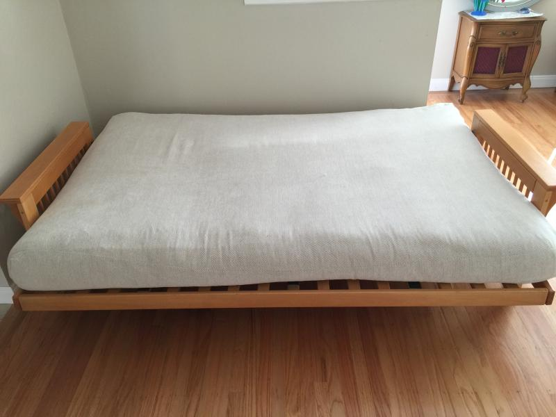 Very comfortable futon with plenty of room for two.