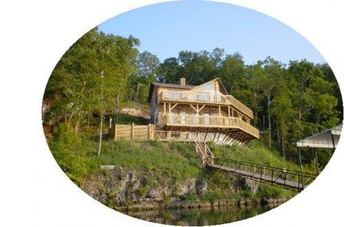 Pelican Point Log Home Exterior View