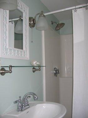 Bath with rainfall shower