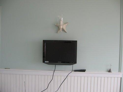 LCD high def TV with cable and DVD player