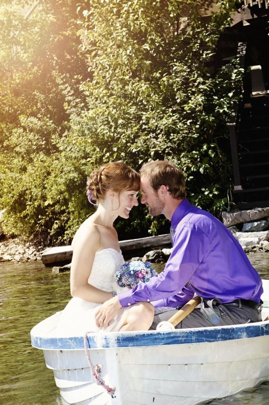 Just Married at The Cottage