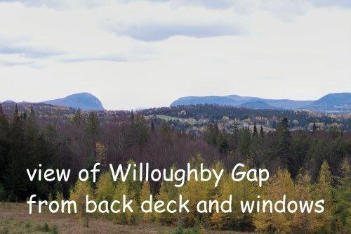 VIEW OF WILLOUGHBY GAP FROM DECK