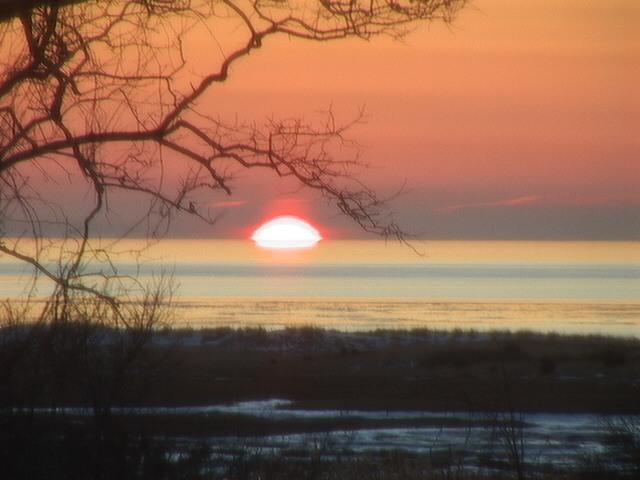 Sunset over Black Beach January 2010