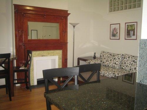 living room. granite countertop