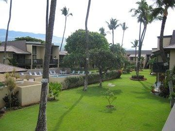 Lanai Overlooking Grounds and Pool