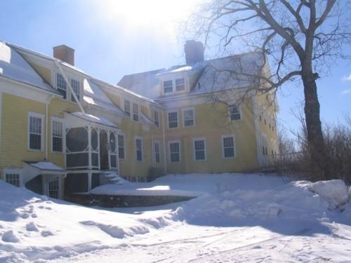 Merrill House, winter, front