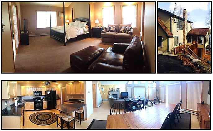Lakefront Rental Home #1306 Large open layout and master suite.