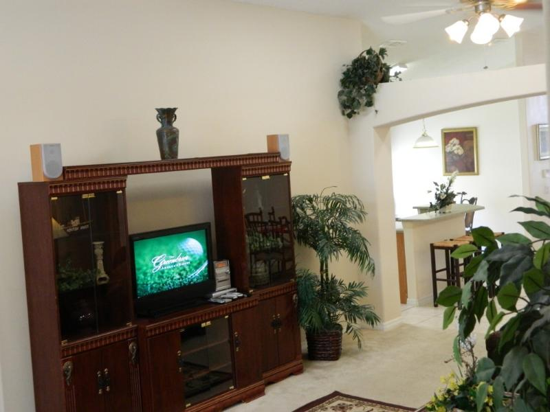 Living Room with Brand New LCD TV
