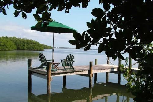 Private Dock facing Lemon Bay