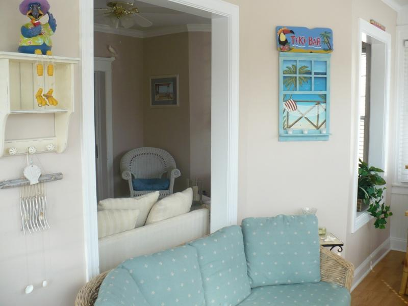 Enclosed Front Porch with Living Room View