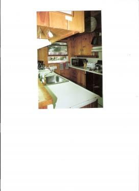 The very well-equipped, but hard to photograph kitchen!