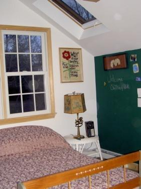 Double Bedroom with Skylights & magnetic chalkboard.