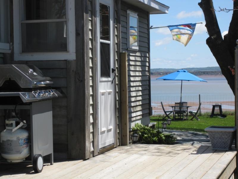 Front door of cottage ocean view