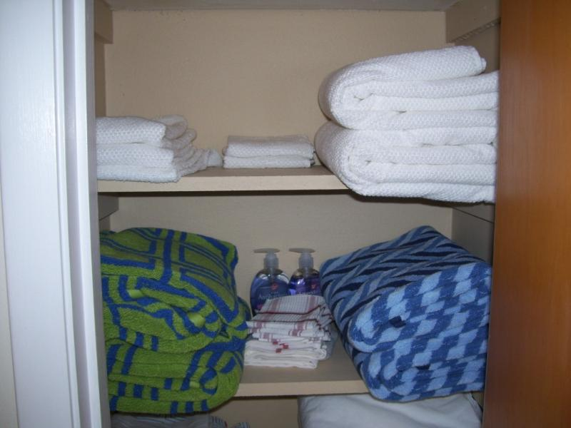 Towels etc supplied
