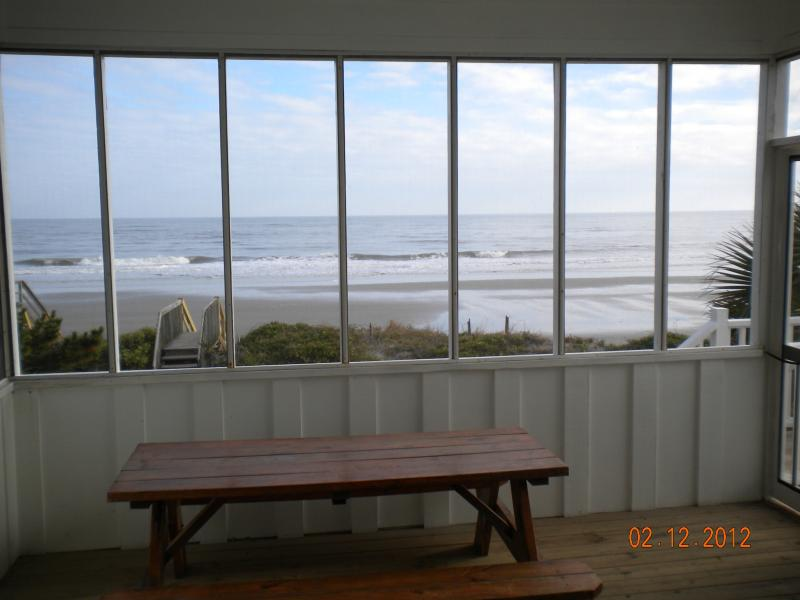 Beach view from screened porch