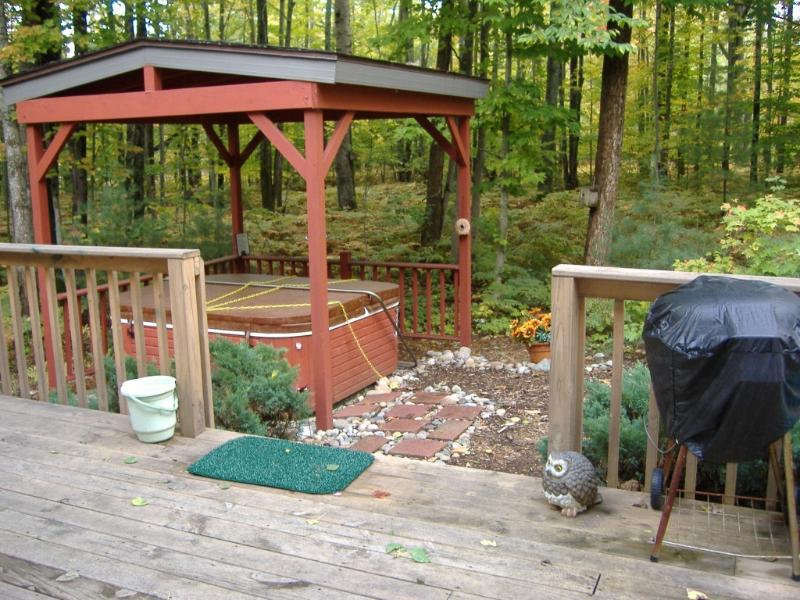 Hot tub and back porch