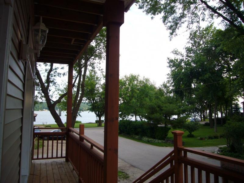 view to lake from front porch