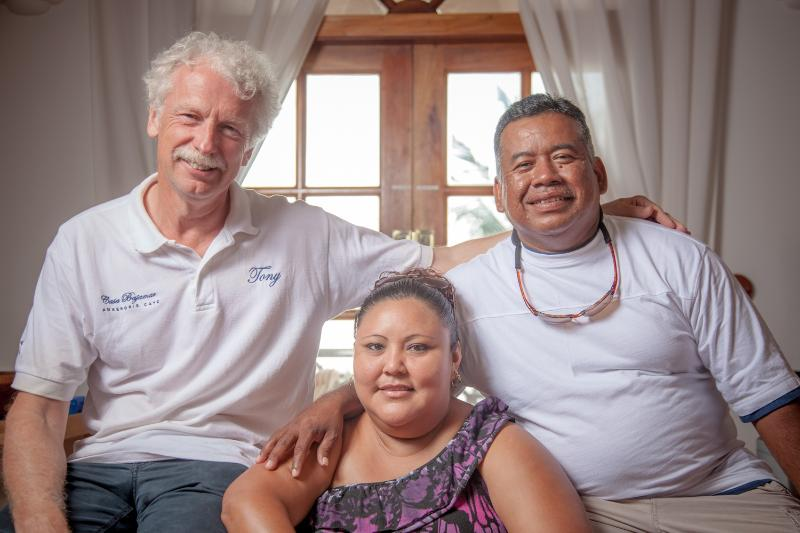 The BajaMar Team - Left to right: Tony (Owner) with Dianie & Alfred