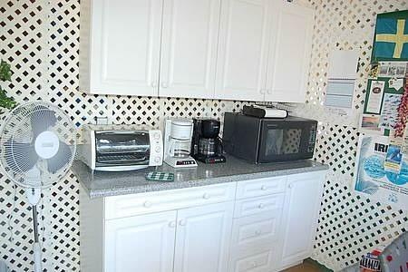 Microwave, coffee maker, toaster oven, 2 gas BBQs , coffee grinder, rice cooker