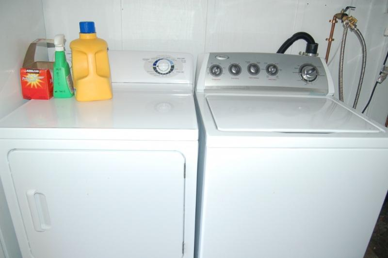 Common Area Washer & Dryer. We supply  laundry soap & dryer sheets at no  charge