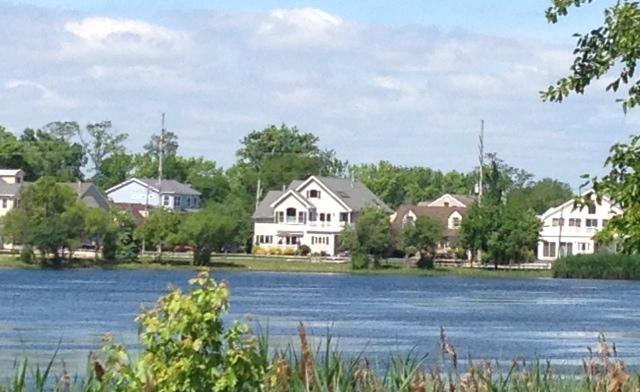 View of house from across the lake