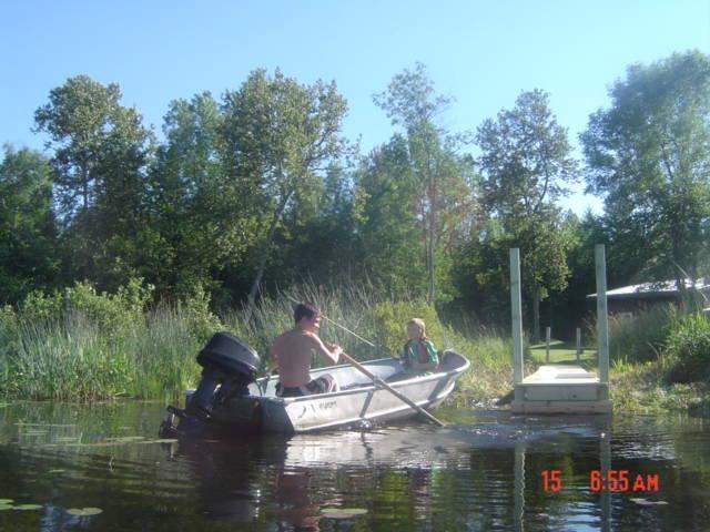 Melhor pesca em frente a cabine ..