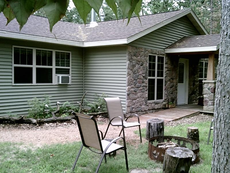 FRONT OF COTTAGE with child and wheelchair friendly ramps